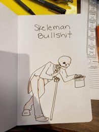 skeleman bullshit doodle
